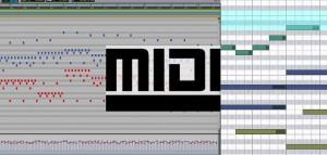 MIDI editing.