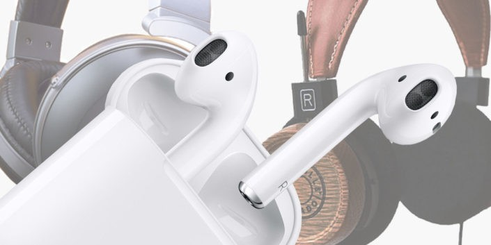 Denon, Grado and Apple portable audio devices.