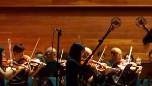 Orchestra session in theatre