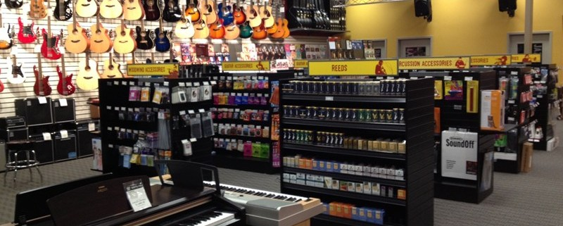 Musical instruments shop.