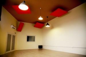 Treated studio room.