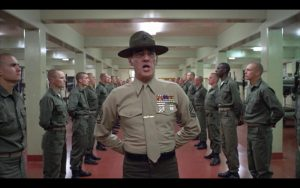 The infamous boot camp scene from of the many Kubrik's masterpieces
