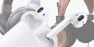 Denon, Grado and Apple portable audio devices.