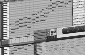 MIDI tracks editing service background, from LmK Music Production